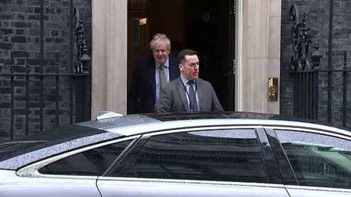 Boris Johnson departs Number 10 for PMQs