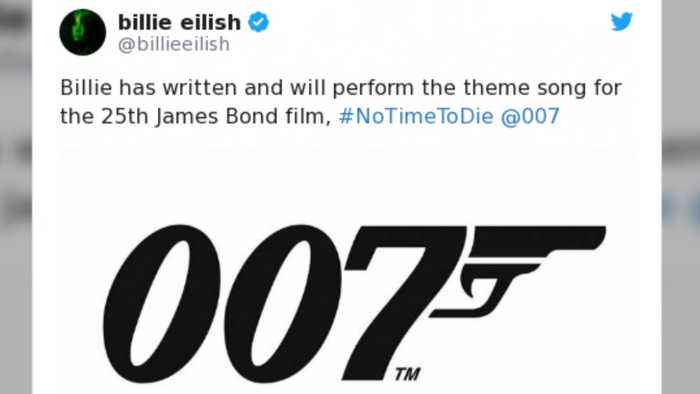 Billie Eilish 'in shock' after landing coveted Bond theme gig