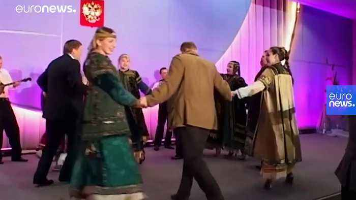 Watch: Archive footage released of George W Bush and Vladimir Putin dancing