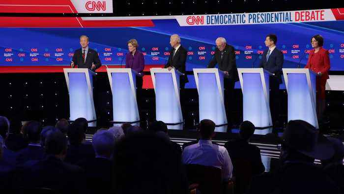 6 Democrats Take The Stage For The Last Debate Before Iowa Caucuses