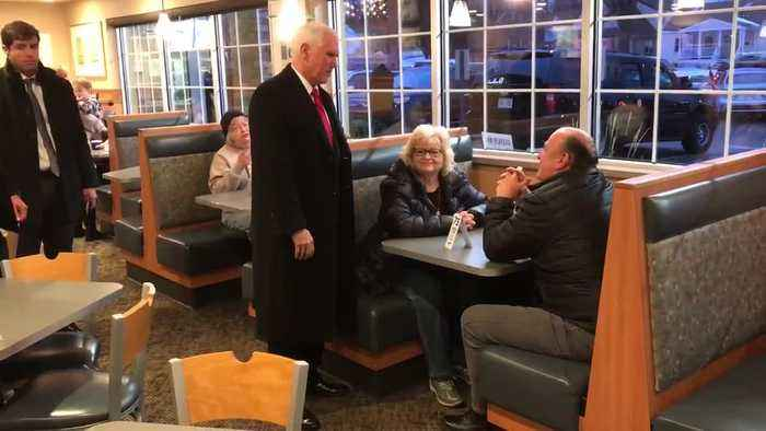 Vice President Mike Pence stopped by a local Culver's while in town