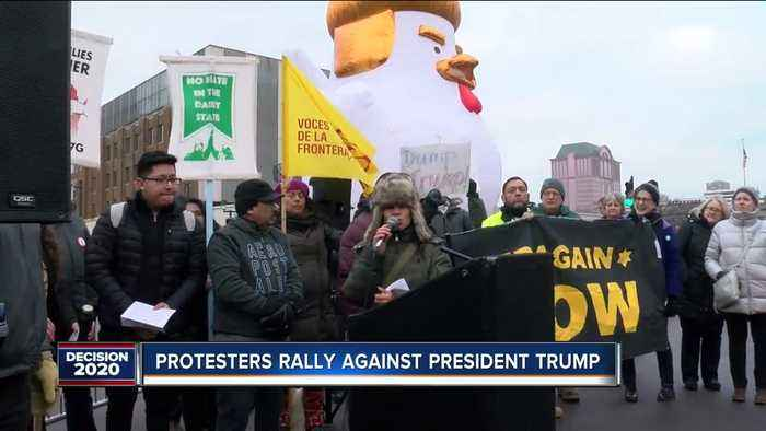 Protesters rally against President Trump