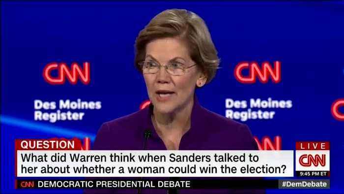 CNN debate moderator tries to help Elizabeth Warren