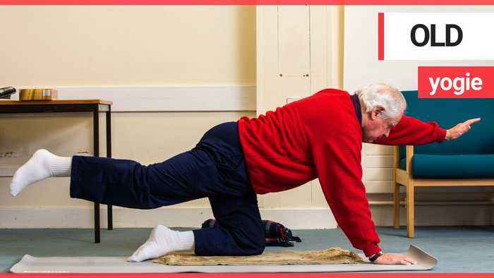 Britain's oldest yoga teacher is teaching packed classes at the age of 90