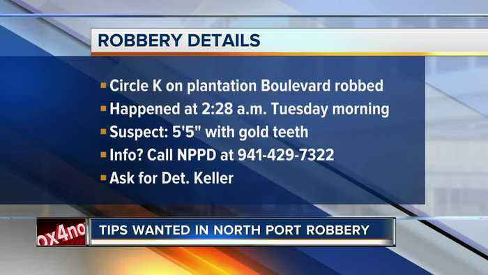Tips wanted in North Port gas station robbery