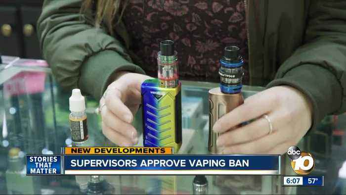 San Diego Supervisors approve vaping ban