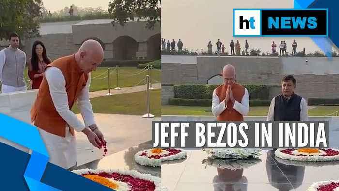 Amazon founder Jeff Bezos pays tribute to Mahatma Gandhi on his visit to India