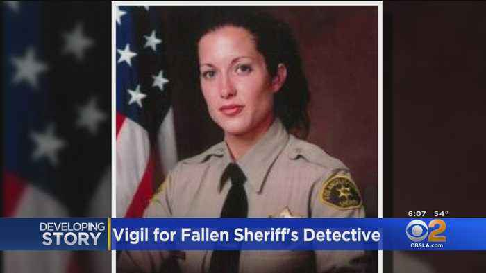 Vigil Held For Sheriff's Deputy Killed In Valley Village After Helping Pedestrian