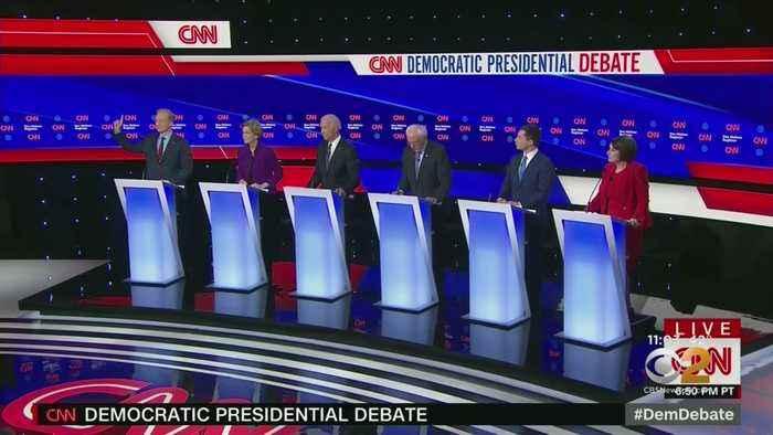 Democratic Candidates Take Part In Last Debate Before Iowa Caucuses