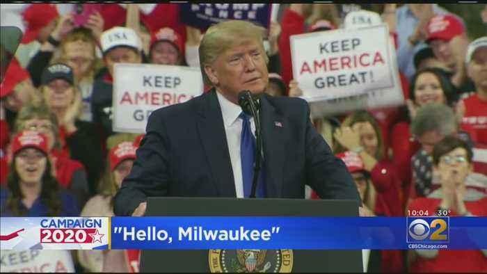 President Trump Rallies In Milwaukee