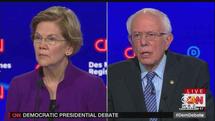 Warren, Sanders Spar In Iowa Debate
