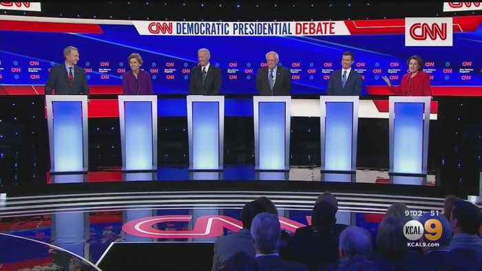 6 Democratic Candidates Take Stage In Final Debate Before Iowa Caucuses