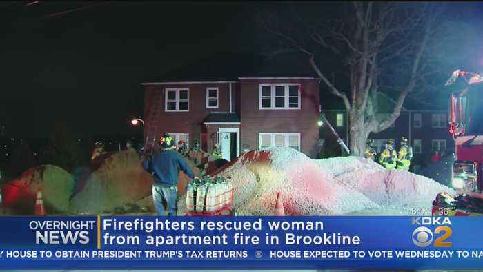 Woman Rescued From Brookline House Fire
