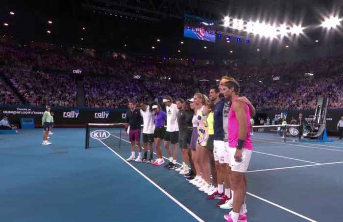 Tennis stars raise funds for bushfire relief