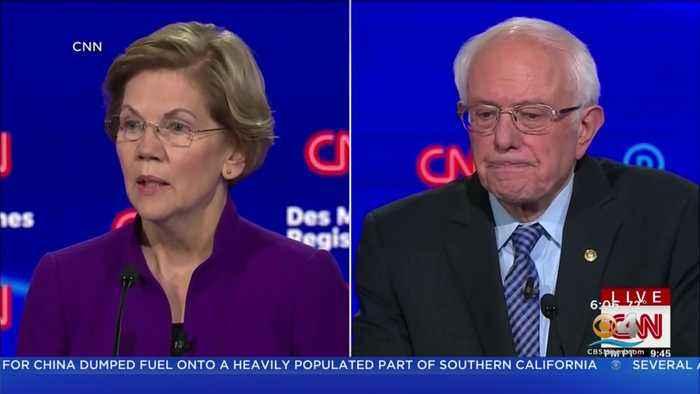 Warren, Sanders Clash At Democratic Debate