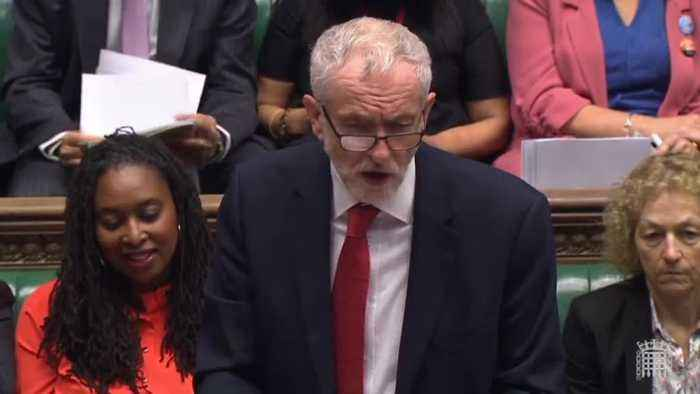 Boris Johnson And Jeremy Corbyn Clash On Social Care At Prime Minister's Questions