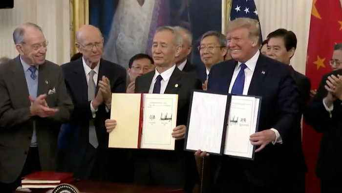 President Trump Signs Trade Deal With China