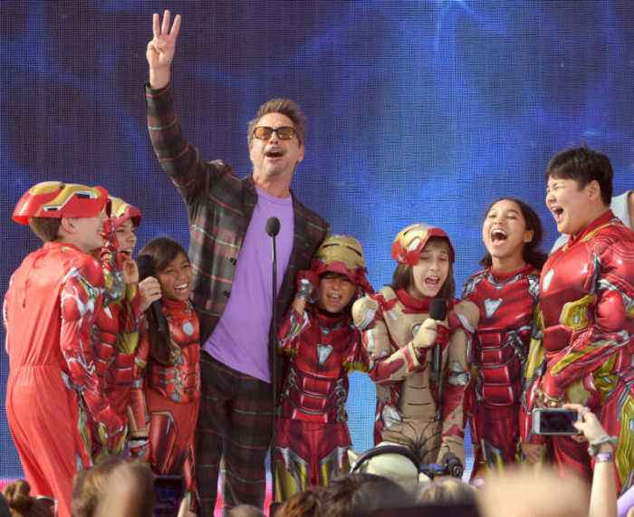 Robert Downey Jr enjoyed being an example to children when playing Iron Man