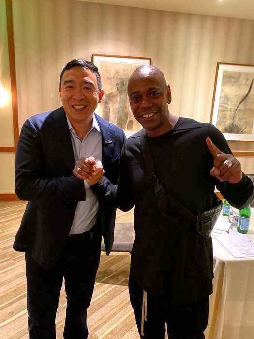 Dave Chappelle Endorses Andrew Yang for President