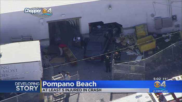 Car Slams Into Pompano Beach Salvation Army, Injuring At Least 5