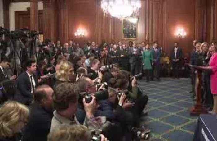 Pelosi-signed impeachment articles formally sent to Senate