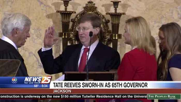 Tate Reeves sworn in as 65th governor