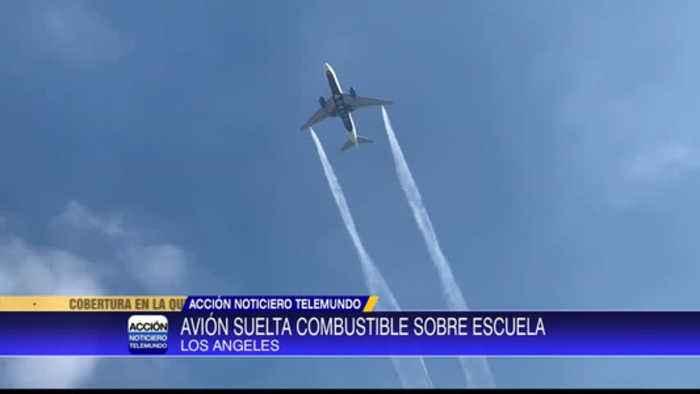 Combustible de avión cae sobre escuela