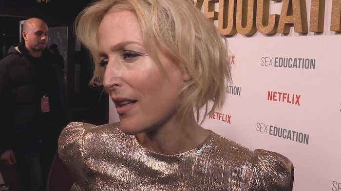 Gillian Anderson's first interview about 'Sex Education' in Poland proved to be revealing