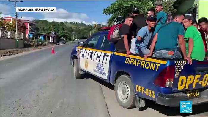 Hundreds of migrants from Honduras have crossed into Guatemala