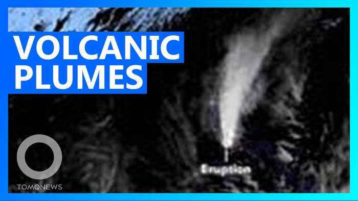 Satellite images show Philippines Taal volcano erupting