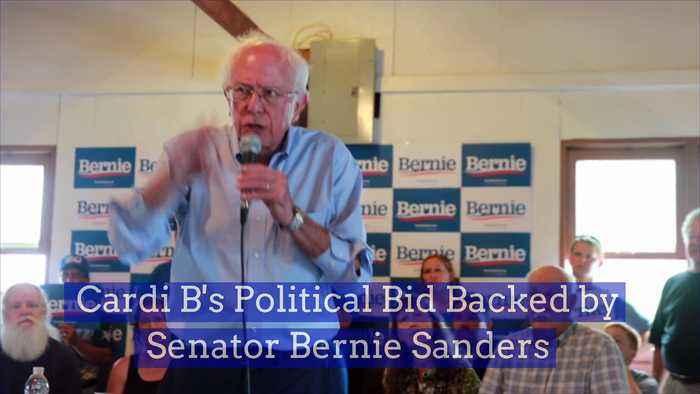 Cardi B's Political Bid Backed by Senator Bernie Sanders