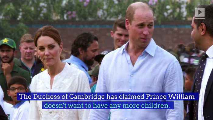 Prince William Rules out Having More Kids