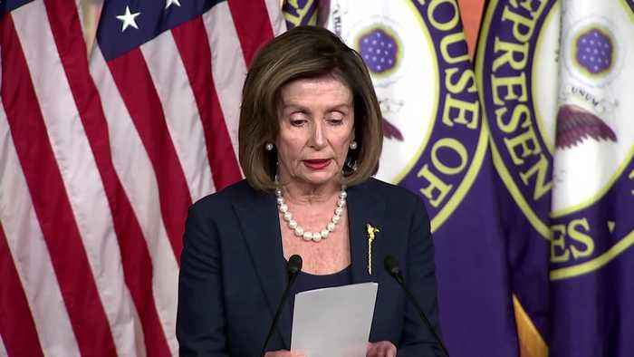Pelosi, citing report, says Trump admin broke law