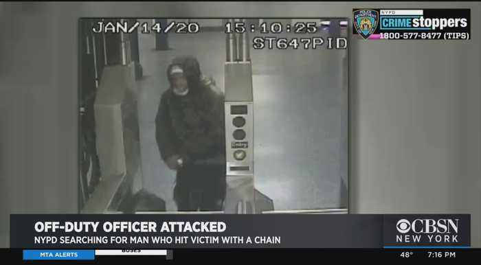 NYPD Searching For Man Who Hit Off-Duty Officer With Bike Chain