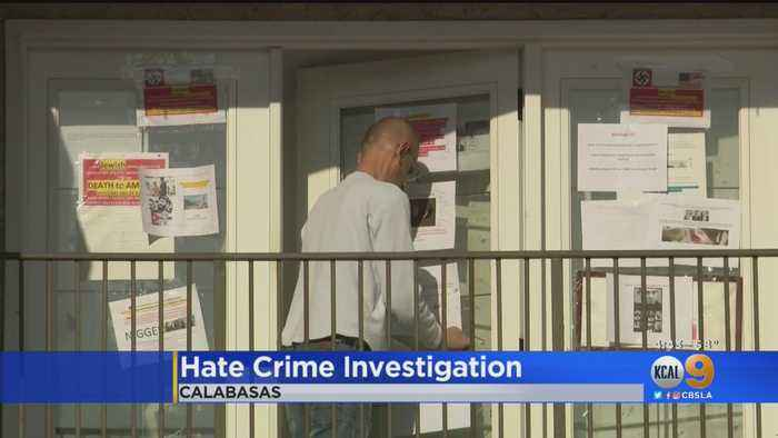 Police Investigating After Swastika, 'Death To America' Posters Found Taped To Calabasas Condo