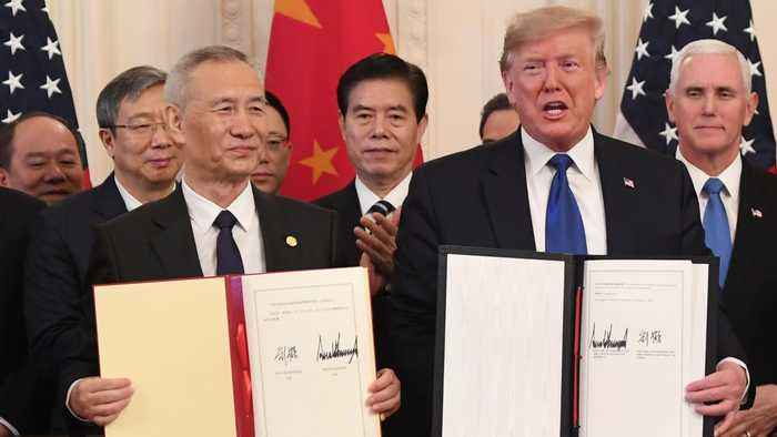 China and US sign phase one trade deal