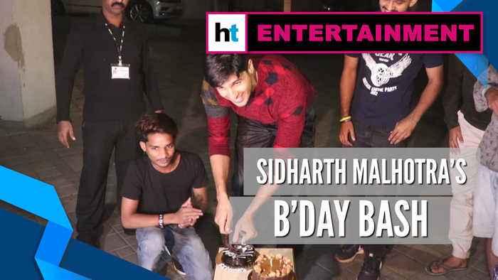 Watch: Sidharth Malhotra celebrates 35th birthday, cuts cake with paparazzi