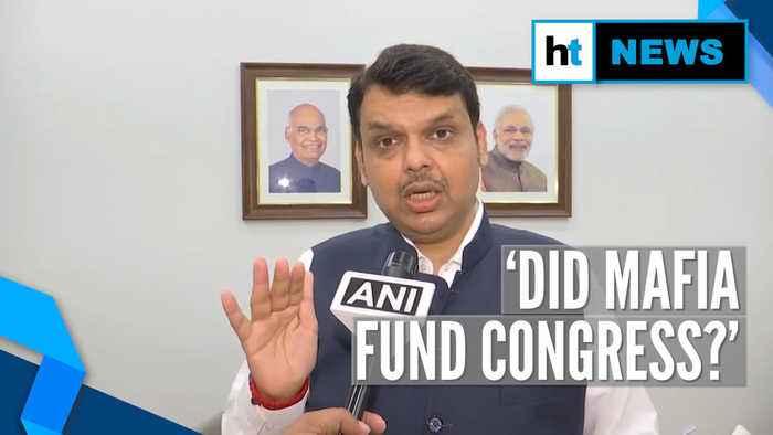 Fadnavis targets Congress over Sanjay Raut's 'Indira Gandhi met don' remark