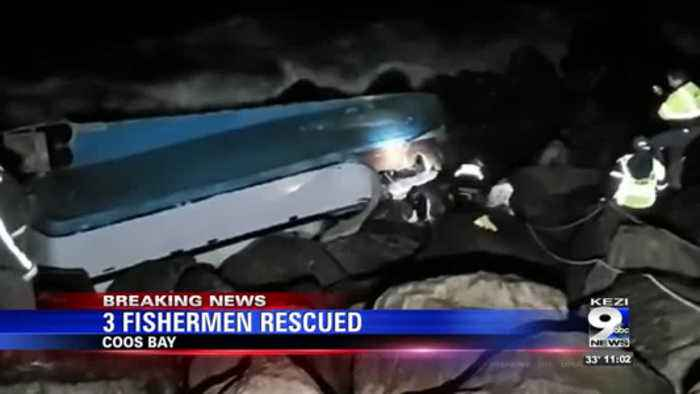 Coast Guard rescues 3 fishermen near Coos Bay