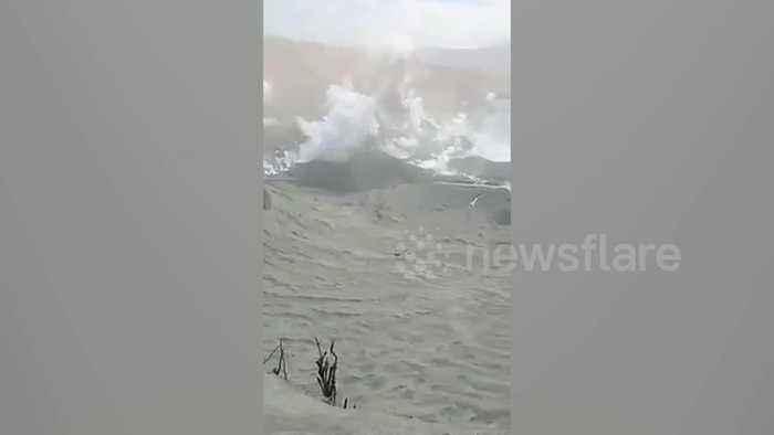 Locals enter Taal volcano danger zone to retrieve belongings