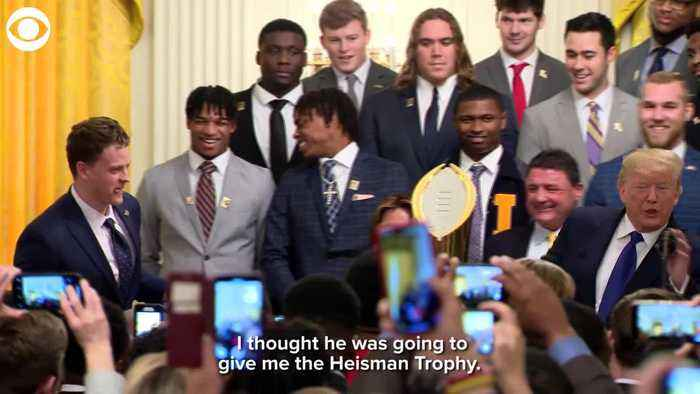 WEB EXTRA: LSU Football Team Visited White House