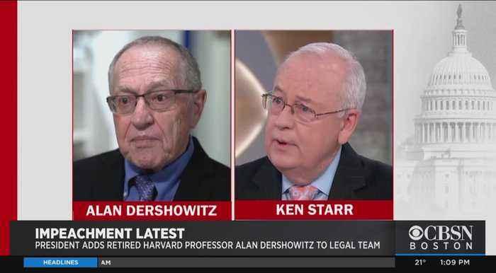 Alan Dershowitz And Ken Starr Join President Trump's Impeachment Defense Team