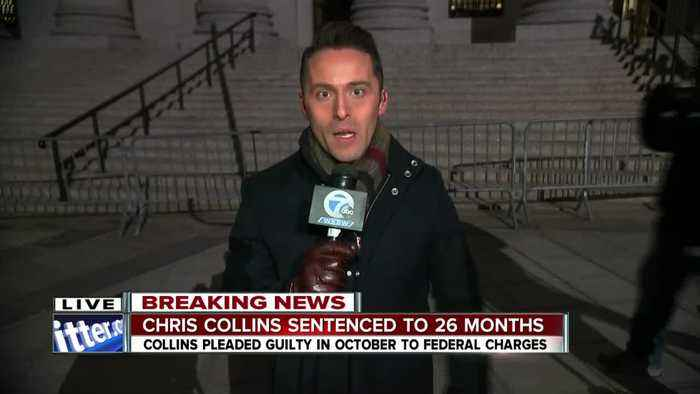 Ed Drantch reports outside courthouse after Chris Collins' sentencing pt 2