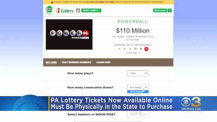 Powerball, Mega Millions Tickets Now Available Online In Pennsylvania