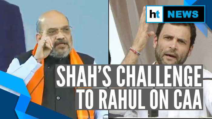 Amit Shah challenges Rahul Gandhi over CAA: 'Prahlad Joshi ready for debate'