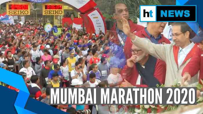 Mumbai Marathon 2020: Thousands participate in event, Uddhav Thackeray flags of Dream Run