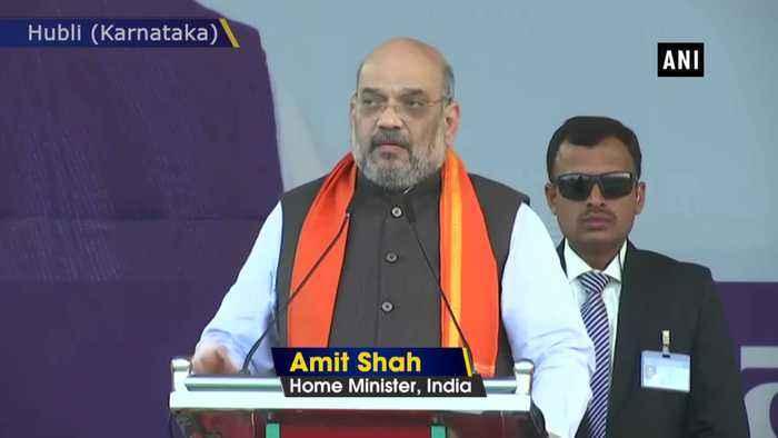 Those opposing CAA are anti Dalits Amit Shah in Hubli