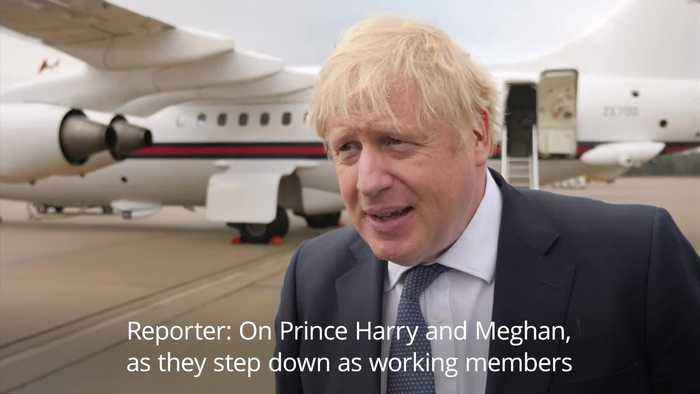 Boris Johnson wishes Harry and Meghan the very best for their future