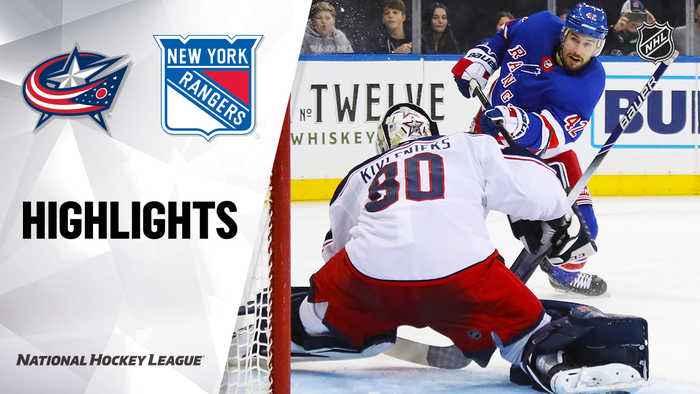 NHL Highlights | Blue Jackets @ Rangers 01/19/20