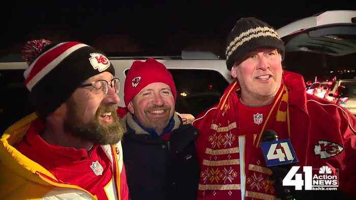 Chiefs fans celebrate AFC Championship win